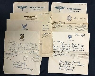 1942-1944 WWII Letter Lot 46 Three (3) Brothers to Mom