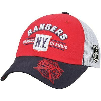 New York Rangers Youth 2018 Winter Classic Retro Mesh Back Slouch Adjustable  Hat df7b1deffbca
