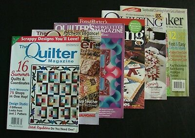 Lot of 6 QUILTING MAGAZINES 2005 - 2018 Fons&Porter - NEWSLETTER - QUILTMAKER Mc
