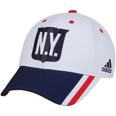 adidas New York Rangers Youth White Navy 2018 Winter Classic Structured  Flex Hat 142aab236