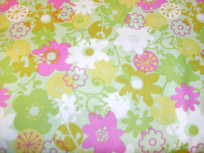 1 Yd. Westminster Flower Shower Quilt Fabric Flowers Allover on Light Green