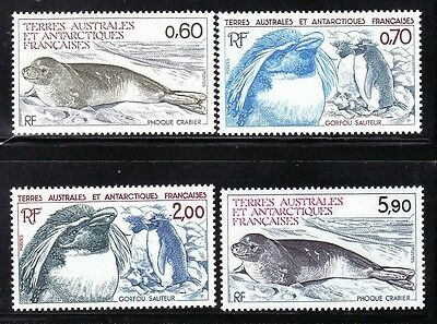 French Southern & Antarctic Territory Sc 107-10 NH PENGUINS - SEALS