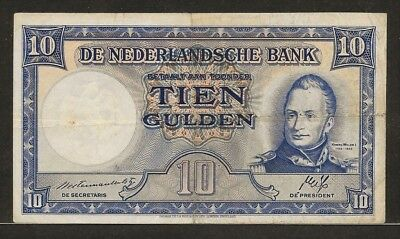 NETHERLANDS 10 gulden 7-5-1945 P75a King William I / factory scene