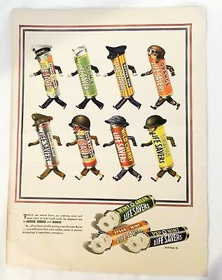 WW II 5 Cent Life Saver Color Advertisement