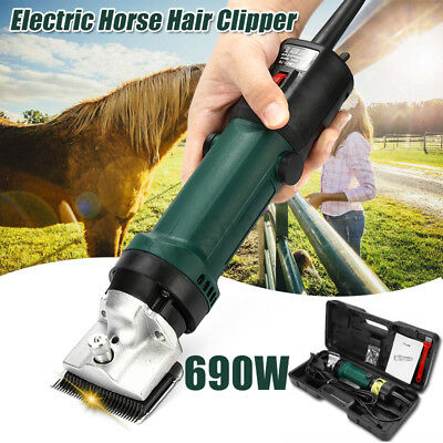 690W Electric Horse Hair Clipper Trimmer Shaver 6 Speed Grooming Shearing