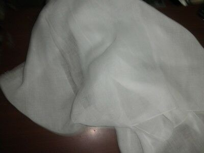 thin sheer{gauze} 26 mm White pure linen fabric 54*