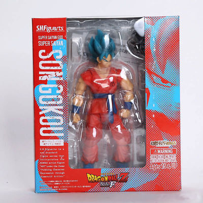 S.H.Figuarts Dragon Ball Z Super Son Gokou Blue Hair Saiyan Action Figure Toy