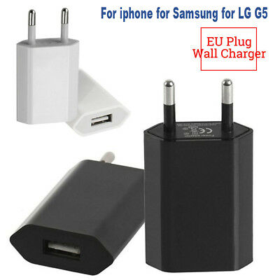 European USB Power Adapter EU Plug Wall Travel Charger for iphone for Samsung LG
