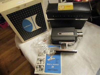 Bell & Howell Super 8 8mm Cartridge Movie Camera Model 311 K Autoload Box Case