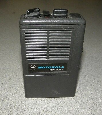Motorola Minitor II Pager Low Band 46.22 46.44 MHz Nice Condition