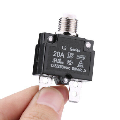 20A 125V 250V Reset Thermal Switch Circuit Breaker Generator Overload Protector