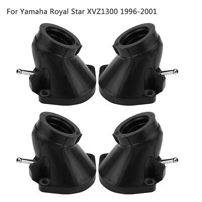 4pcs Carburetor Carb Intake Manifold Boots Joint For YAMAHA Royal Star XVZ1300