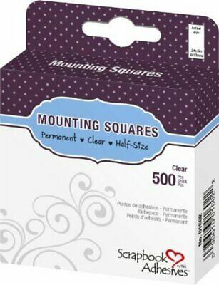 3L Scrapbook Adhesives Permanent Mounting Squares 500/Pkg Clear