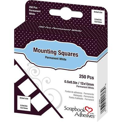 3L Scrapbook Adhesives Permanent Mounting Squares 250/Pkg White