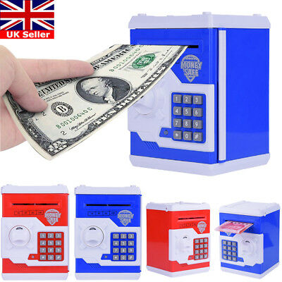 Atm Bank Cash Machine Coin Note Counter Saving Money Box Gift  Bank Save For Kid