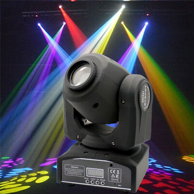 1-Pack 60W RGBW Stage Light LED Moving Head Lights Disco DJ Party Stage Lighting