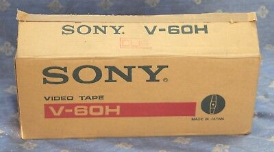 11 x Sony High Density Video Tape V 60 H Video Cassetten OVP NEU