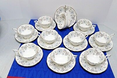 Coalport Bone China, My Fair Lady 10 Sets Tea Cups and Saucers MINT Condition.
