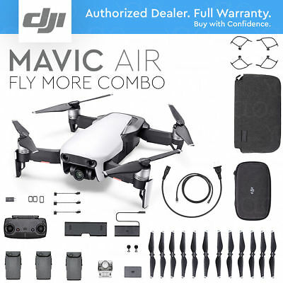 BRAND NEW DJI Mavic Air Camera Drone and BARELY USED Fly More Combo - WHITE