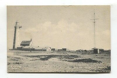 Manora Lighthouse, Karachi - old India, later Pakistan postcard