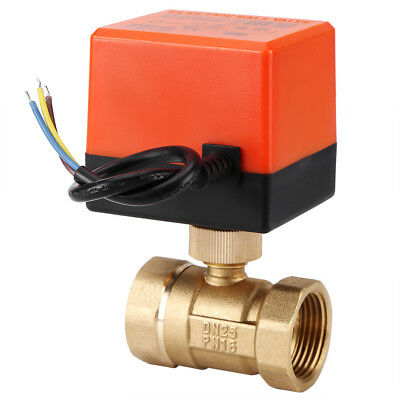 """Electric Motorized Brass Ball Valve DN25/1"""" AC 220V 2 Way 3-Wire with Actuator"""