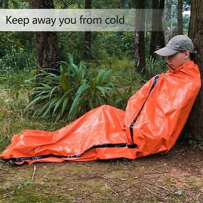 Portable Outdoor Emergency Sleeping Bag Thermal Blanket For Survival Camping CO