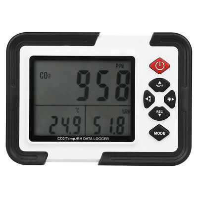 HT2000 9999ppm CO2 LCD Detector Carbon Dioxide Data Logger Temperture RH Monitor