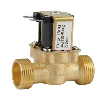 AC 220/240V G3/4 2 Way Water Inlet N/C Normal Closed Electric Solenoid Valve