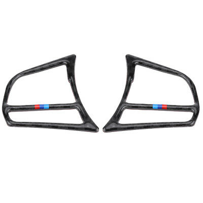 Carbon Fiber Steering Wheel Button Frame Cover Trim for BMW F20 F21 F30 F34 F32