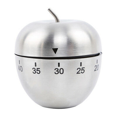 Apple Shape Stainless Steel 60Minute Countdown Kitchen Cooking Alarm Timer Clock