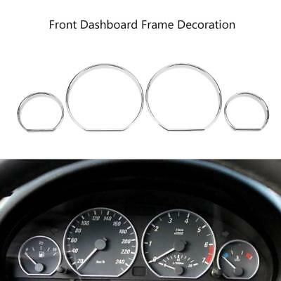 Cluster Dashboard Dial Gauge Rings Bezel Trim Instrument Frame Trim For BMW E46
