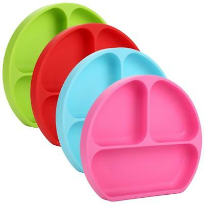 Food Silicone Mat Food Dish Tray Placemat Plate Dish Kid Baby Toddler Tablewares