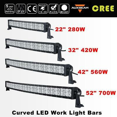 "5D CREE 22"" 32"" 42"" 52"" inch 4"" 18W LED Curved Work Light Bar Offroad Car Truck"