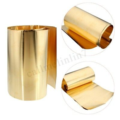 1Pc New Brass Metal Thin Sheet Foil Plate Shim 0.1mm Thick 200mm x 1000mm UK