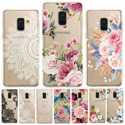 For Samsung Galaxy A6 A8 + A7 A9 2018 Painting Slim Soft Silicone TPU Case Cover