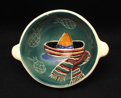 Vintage Australian Pottery Signed Vande Hand Painted Bowl