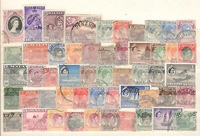 Malaya & States - 52 Stamps - Mostly Used