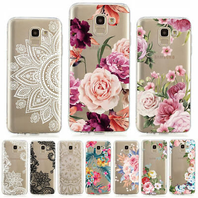 For Samsung J4 J6 Plus J3 J5/7 2017 Painting Slim Soft Silicone Clear Case Cover