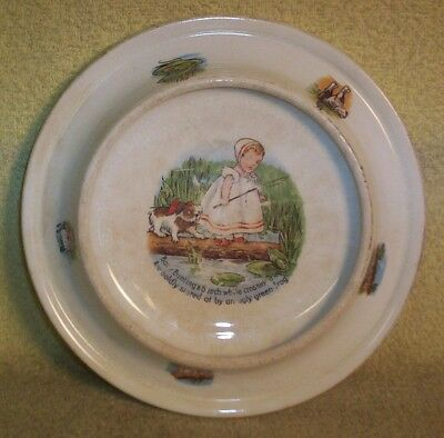 Antique Royal Baby-Plate 2/7/1905 Baby Bunting & Bunch Ceramic Bowl