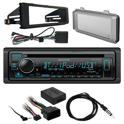 Kenwood Bluetooth Receiver, Dash Kit, Handlebar Controls, Radio Shield, Antenna