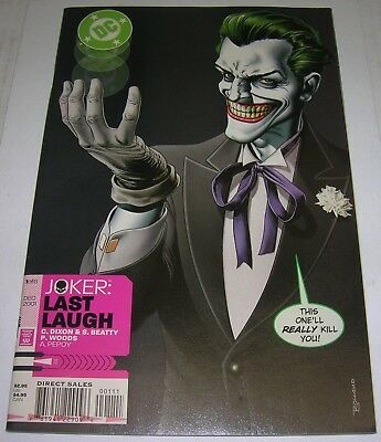 JOKER: LAST LAUGH #1 (DC Comics 2001) BATMAN (VF-) Great Brian Bolland cover