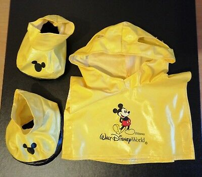 Walt Disney World Pal Mickey Mouse Outfit Rainsuit And Goloshes