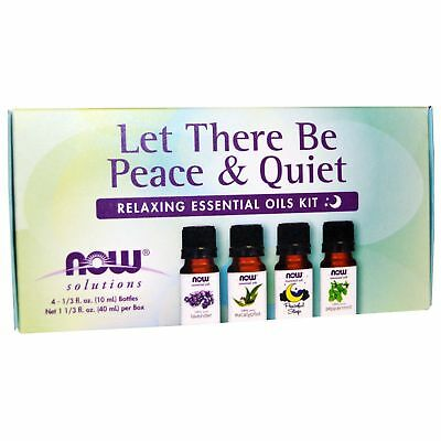 Now Foods  LET THERE BE PEACE & QUIET Relaxing Essential Oils Kit - 4 Bottles