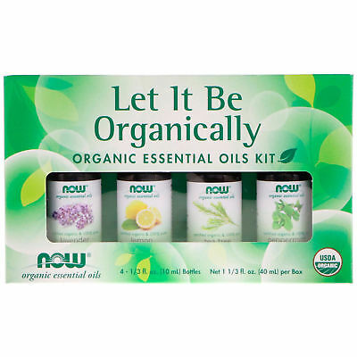 Now Foods LET IT BE ORGANICALLY  Organic Essential Oils Kit - 4 Bottles