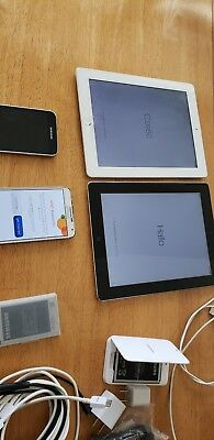 Lot of Cell   4 phones and tablets, all working. 1 cracked screen on iPad.