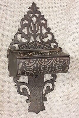 Match Safe Striker fancy Victorian vintage 1860's cook stove rustic iron