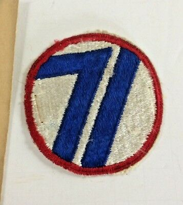 71st INFANTRY DIVISION PATCH WW2 WWII US ARMY Military ORIGINAL Vintage