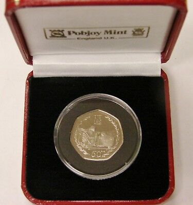Isle Of Man - 2007 - Proof 50 Pence - Centenary Of TT Dave Molyneux - w/ Case