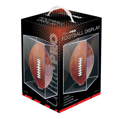 Football Display Case Square Ball Holder Ultra Pro NEW