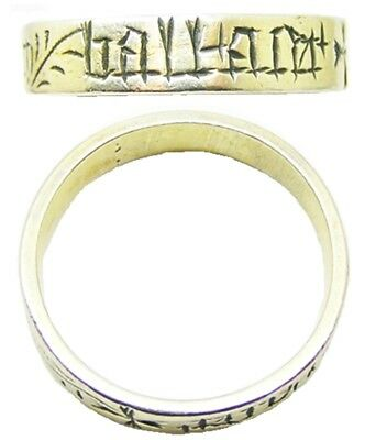 RARE 15th century Magical Medieval Amulet Ring Three Magi Inscribed Posy Size 11